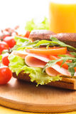 Wholegrain sandwich Royalty Free Stock Image
