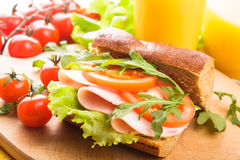 Wholegrain sandwich Royalty Free Stock Images