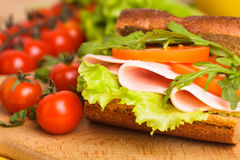 Wholegrain sandwich Royalty Free Stock Photo