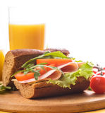 Wholegrain sandwich Stock Image