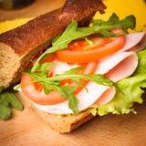 Wholegrain sandwich Stock Photography