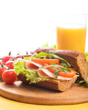 Wholegrain sandwich Royalty Free Stock Photos