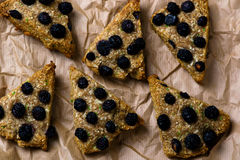 Wholegrain skone with blueberry Stock Photo