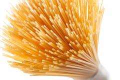 Wholegrain spaghetti pasta isolated on white Stock Photos