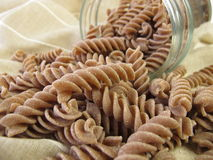 Wholegrain spelt fusilli Royalty Free Stock Photo