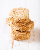 Wholegrain wheat bisks Stock Photos