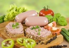 wholemeal πατέ συκωτιού ψωμιού στοκ φωτογραφίες με δικαίωμα ελεύθερης χρήσης