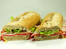wholemeal σάντουιτς Στοκ φωτογραφίες με δικαίωμα ελεύθερης χρήσης