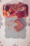 Wholemeal ψωμί με τη μαρμελάδα βερίκοκων Στοκ φωτογραφία με δικαίωμα ελεύθερης χρήσης
