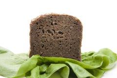 wholemeal салата листьев хлеба Стоковая Фотография