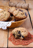 Wholemeal banana muffins Stock Photography