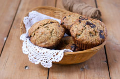 Wholemeal banana muffins Royalty Free Stock Image