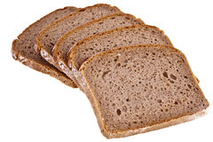Wholemeal bread. Completely isolated over white background Royalty Free Stock Photo