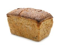 Wholemeal bread. Loaf of wholemeal bread over white background Stock Image