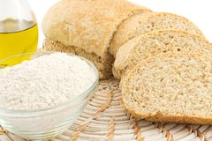 Wholemeal bread. Loaf of wholemeal bread, fresh daily Royalty Free Stock Photo