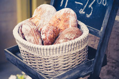 Wholemeal bread in a basket Royalty Free Stock Images