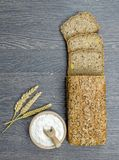 Wholemeal Bread on a Board Royalty Free Stock Photography