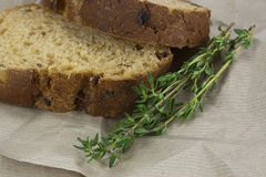 Wholemeal bread on brown paper Stock Images