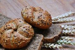 Wholemeal bread. buns Royalty Free Stock Photos