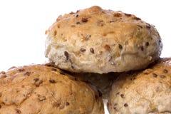Wholemeal Bread Buns Isolated Stock Photos