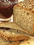 Wholemeal bread, close-up Stock Images