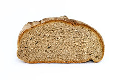 Wholemeal bread half Stock Photo