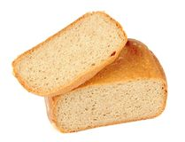 Wholemeal Bread Isolated on White Background Stock Photo