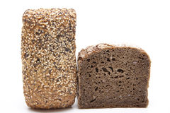 Wholemeal bread with roll Stock Image