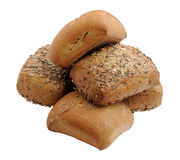 Wholemeal bread rolls Royalty Free Stock Images