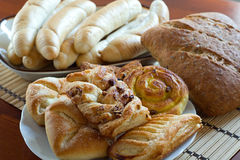 Wholemeal bread, rolls and cakes Stock Photo