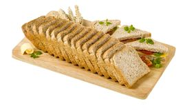 Wholemeal bread sandwiches Stock Photos