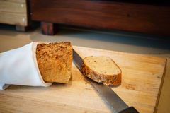 Wholemeal bread sliced Royalty Free Stock Photography