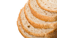 Wholemeal Bread Slices Isolated Stock Image
