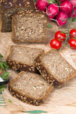 Wholemeal bread with sunflower seeds Stock Images