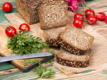 Wholemeal bread with sunflower seeds Stock Photo