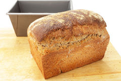 Wholemeal bread from the tin Stock Photography