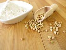 Wholemeal buckwheat flour Stock Photos