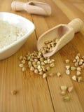 Wholemeal buckwheat flour Royalty Free Stock Photos