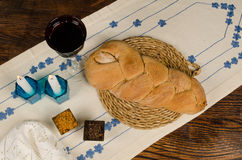 Wholemeal challah bread of shabbat Stock Photo