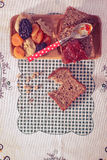 Wholemeal chleb z morelowym dżemem Fotografia Royalty Free