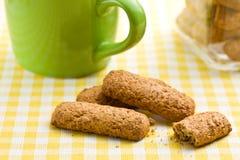 Wholemeal cookies Stock Photos