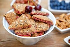 Wholemeal cookies - fruit cookies Stock Photos