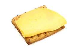 Wholemeal cracker with cheese Stock Images