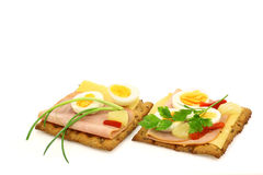 Wholemeal crackers  Stock Photography