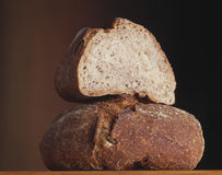 Wholemeal farmhouse loaf Royalty Free Stock Photos