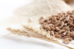 Wholemeal and its products, ears of wheat Royalty Free Stock Images