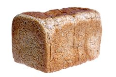 Wholemeal Loaf of Bread stock images