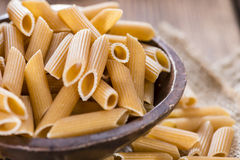 Wholemeal Pasta (Penne) Stock Photo