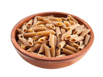 Wholemeal penne italian pasta Stock Image