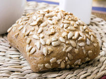 Wholemeal roll with seeds Royalty Free Stock Image